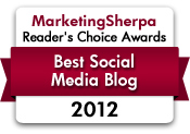 2012 Readers Choice Best Social Media Blog
